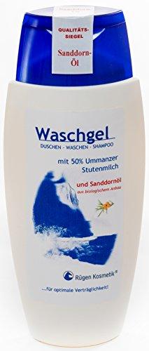 Rügen Kosmetik Waschgel mit 50% Ummanzer Stutenmilch und Sanddornöl aus biologischem Anbau 150ml