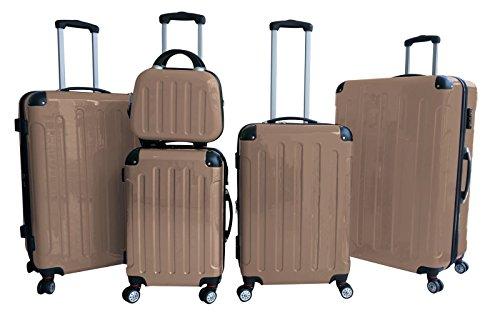 Seranova - Juego de 5 maletas resistentes (Multicolor)