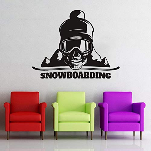 ZJfong Muursticker Snowboarden Muurstickers Sport Oefening Muurdecoratie voor Meisjes Jongens Slaapkamer Kinderkamer Muurdecoratie 57x73cm