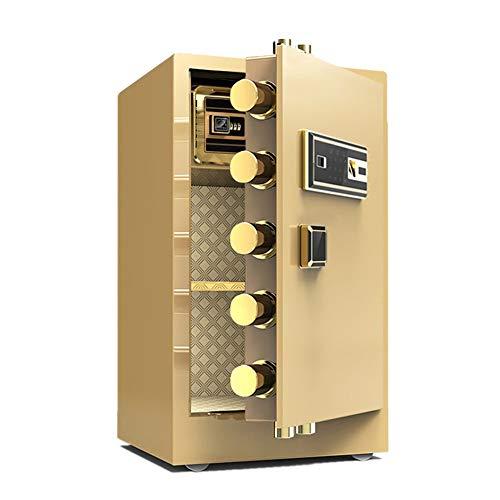 Caja Fuerte Caja de seguridad digital de teclado armarios de acero de construcción for la joyería dinero en efectivo Cajas Cajas de seguridad para el hogar ( Color : Gold A , Size : 44.5X37X70CM )