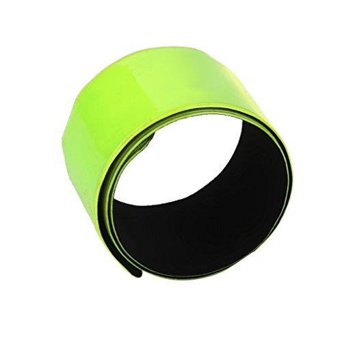 MagiDeal 30CM Bracelet Réfléchissant pour Cheville Bras Poignet Vert