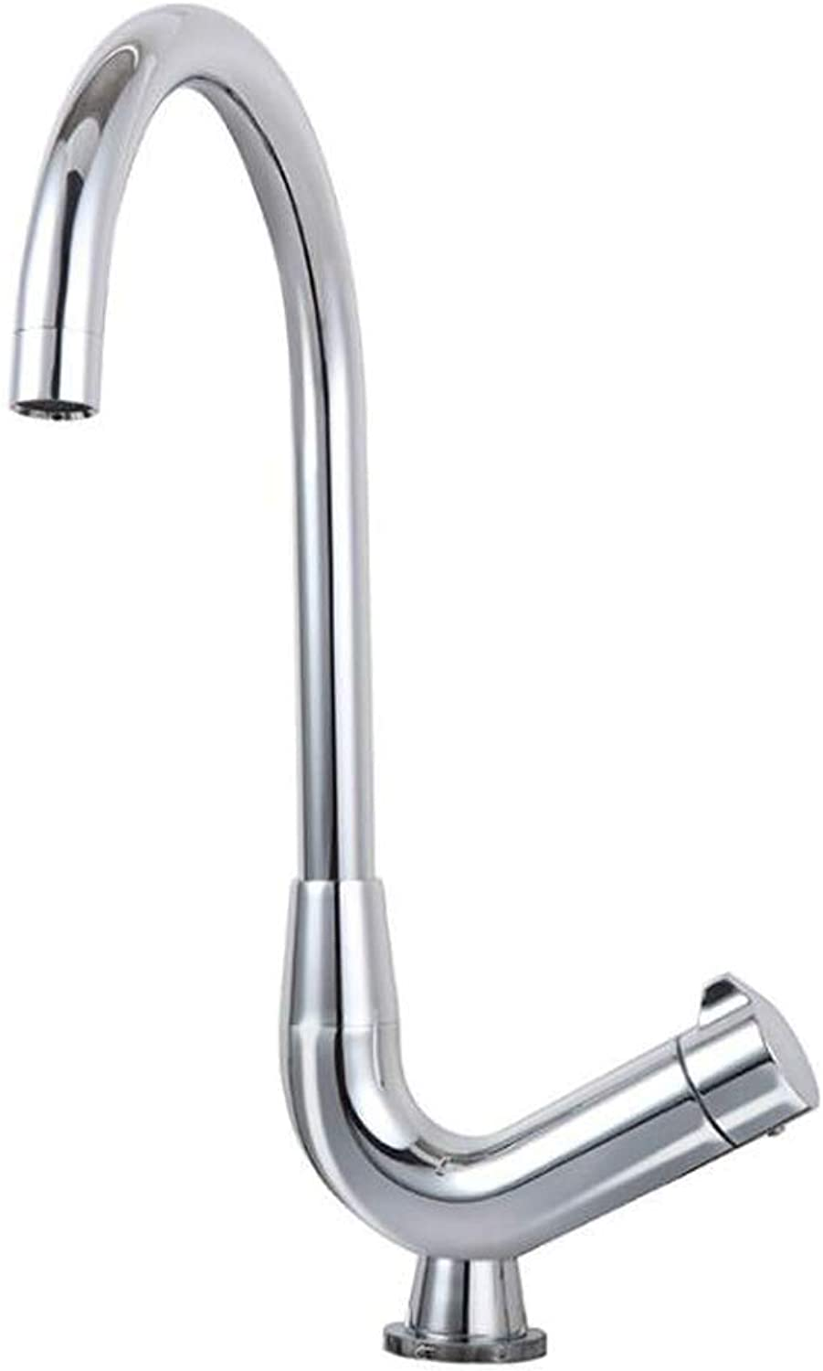 AXWT Countertop Basin Tap Bathroom Sink Mixer Tap With Lever Single Handle Chrome High Rise Brass Tap
