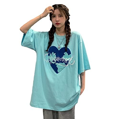 韓国ファッション半袖tシャツ 韓国ファッション レディース 韓国 レディース 夏 韓国 tシャツ tシャツ レディース 韓国 (ライトグリーン)