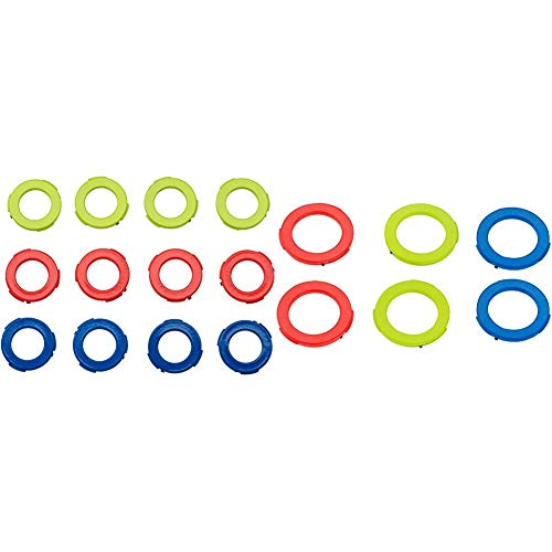 Magura Bremszange, 12 Stück Blenden-kit, blau/Neonrot/Neongelb, One Size & Bremszange Blenden-kit, blau, neonrot, Neongelb, 6 Stück