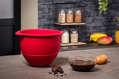 Krups Premium Küchenmaschine 17 teilig, 4,6L Edelstahlschüssel, Silikonschüssel, 4 Rührwerkzeuge Edelstahl, spülmaschinenfest, 1100W, Schnitzelwerk, Fleischwolf, Gratis Rezepte und 12er Cupcake Form - 6
