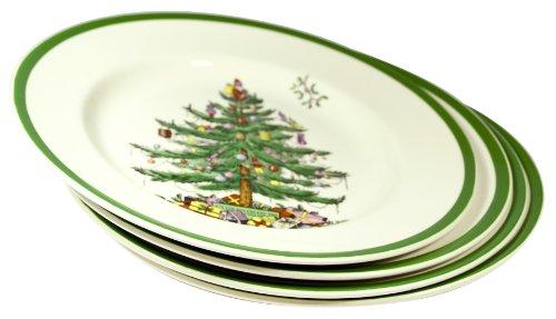 Spode Christmas Tree Plates x 4 (20cm)