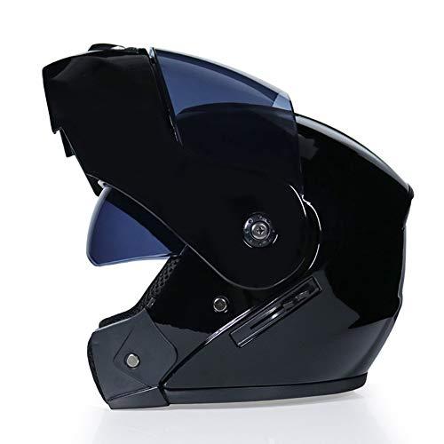CARACHOME Fullface Helm Mit Schutzbrille, Bundeswehr Helm, Downhill Helm, Helm Motorrad Für Männer Und Frauen.Motocross Helm Geeignet Für Scooter Bike CS Game Motorrad,L