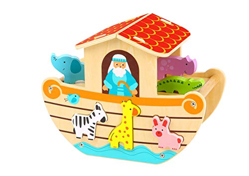 woody treasures Wooden Toys - Noah's Ark Toy (Educational & Development Toys, Great Gift for Girls and Boys)