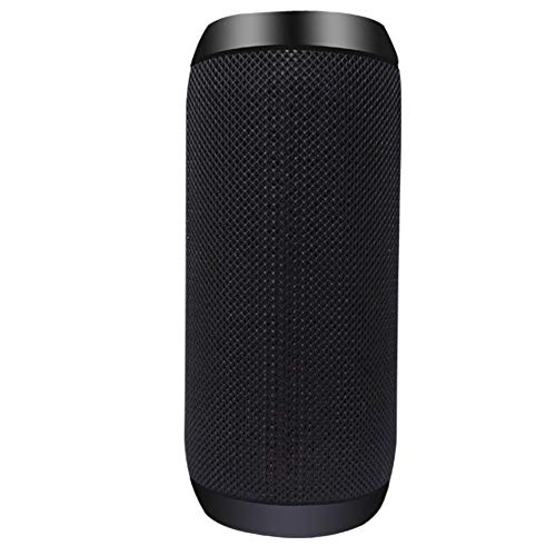yui El mejor altavoz Bluetooth portátil Altavoz Bluetooth Bass Columna inalámbrica impermeable al aire libre Radio FM Subwoofer Altavoz Caja de sonido Altavoz Bluetooth 20W (Color: Negro)