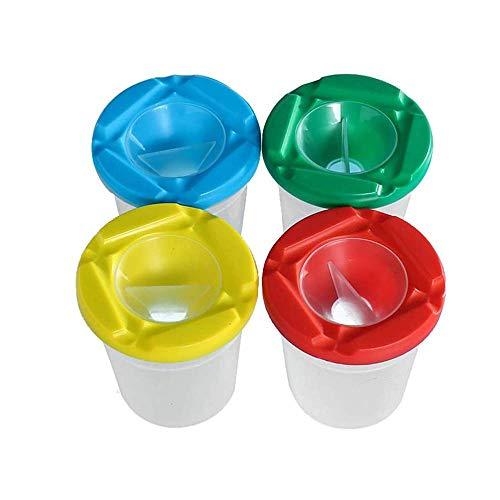 4 Piezas Taza de Pintura,Bote de Pintura con Tapas,Sin Derrames Tazas de Pintura,Color Aleatorio,Hechos de PláStico de Alta Calidad,Duraderos,Utilizados para Accesorios de Pintura ArtíStica