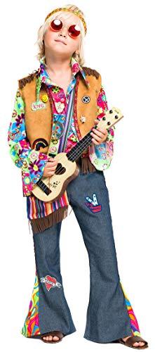chiber Disfraces Disfraz de Hippie Deluxe para Niño (7 años)