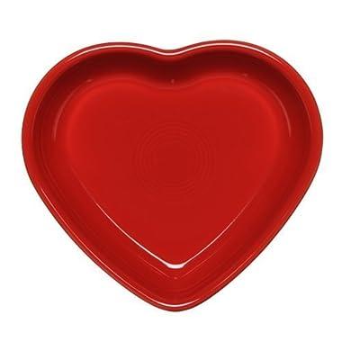 Fiestaware Heart Shaped Small Bowl, 7 Oz. (Retired) (Scarlet)