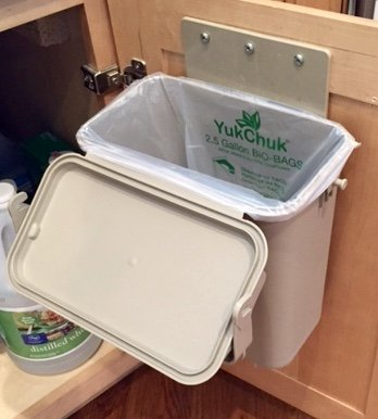 Under-Counter Indoor Kitchen Food Waste 1.5 gal Compost Container/Bin System by YukChuk