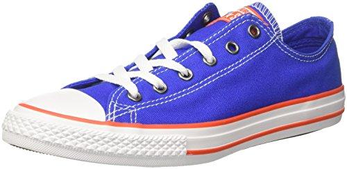 Converse Unisex-Kinder CTAS OX Fitnessschuhe, Blau (Hyper Royal/Bright Poppy/White 483), 31 EU