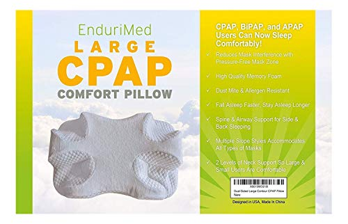 CPAP Pillow - Memory Foam Contour Design Reduces Face Mask Pressure & Air Leaks - 2 Head & Neck...
