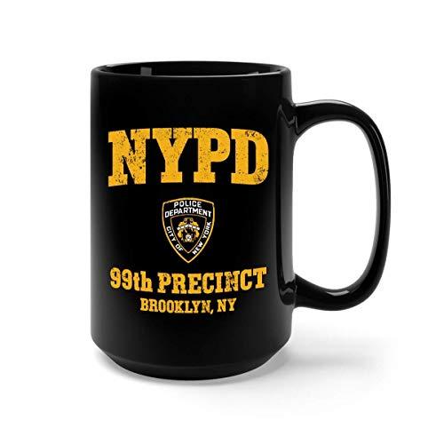 Rom-com serie divertida drama 99th precinct brooklyn taza de café - regalo negro para amigo marido esposa fans amante padres en navidad cumpleaños acción de gracias aniversario de bodas día de san val