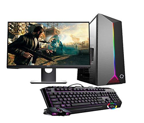 CHIST Gaming Desktop Intel Core i3 9100F| 8GB 120GB SSD-500GB| 2GB Graphic Card| 20Inch Full HD Monitor| Gaming K&M