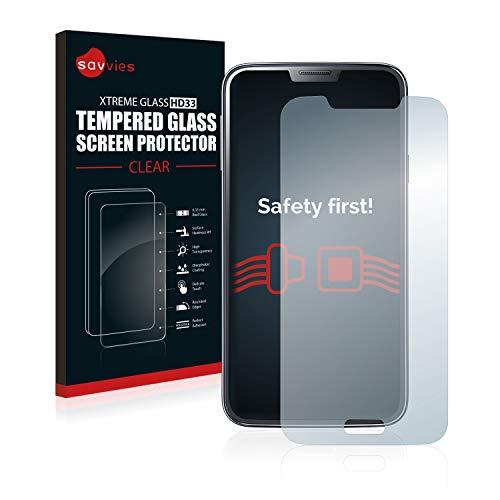 savvies Pellicola Vetro Temperato Compatibile con Samsung Galaxy S5 SM-G900I SM-G900F Protezione, Schermo Protettivo, Glass Durezza 9H