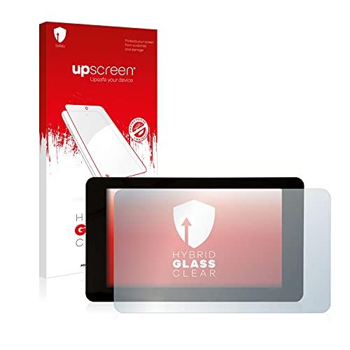 upscreen Hybrid Glass Panzerglas Schutzfolie kompatibel mit Raspberry Pi Touchscreen 7' 9H Panzerglas-Folie