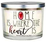 Aromascape PT41417 'Home is Where the Heart Is' 3-Wick Scented Candle (Brown...