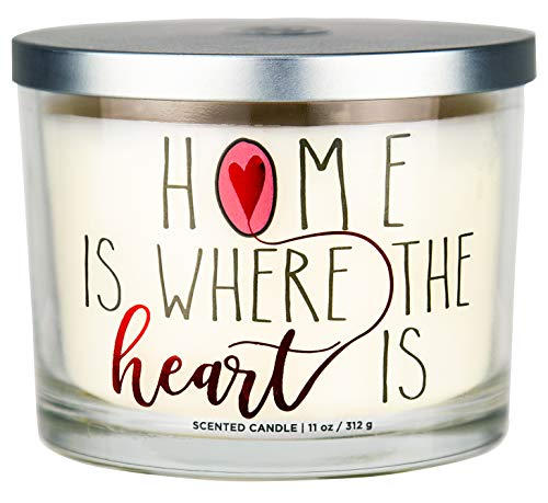Aromascape PT41417 'Home is Where the Heart Is' 3-Wick Scented Candle (Brown Sugar Pecan, Cinnamon Bark, and Nutmeg), 11-Ounce