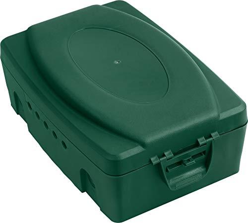 Meister Safebox 330 x 230 x 125 mm - Für Mehrfachsteckdosen & elektrische Geräte - IP54 Spritzwasserschutz - Für Kabel bis 10,4 mm Dicke - Schutz vor Nässe & Schmutz / Wetterfeste Box / 7436110