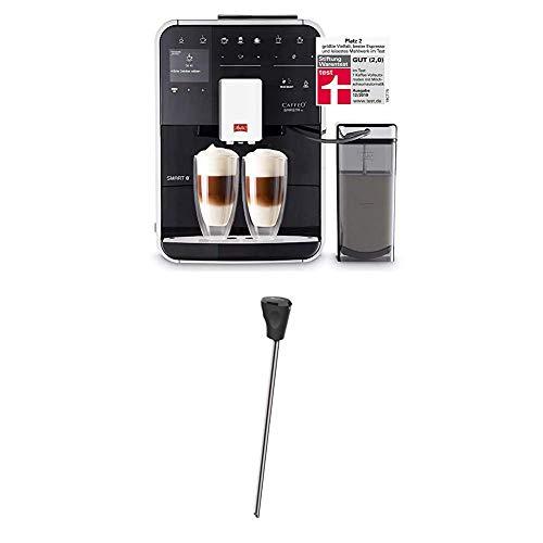Melitta Caffeo Barista TS Smart F850-102, Kaffeevollautomat mit Milchbehälter, Smartphone-Steuerung mit Connect App, One Touch Funktion, Schwarz + Milchlanze für Kaffeevollautomaten Edelstahl, Schwarz