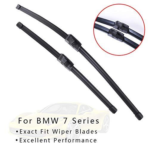 WQSNUB Escobillas de limpiaparabrisas, para BMW Serie 7 E65 E66 E67 E68...