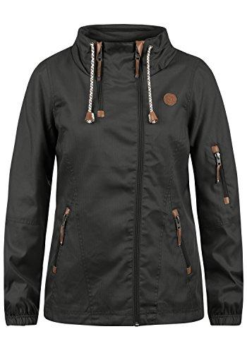 DESIRES Belle Damen Windbreaker Übergangsjacke Regenjacke Mit Stehkragen, Größe:XL, Farbe:Dark Grey (2890)