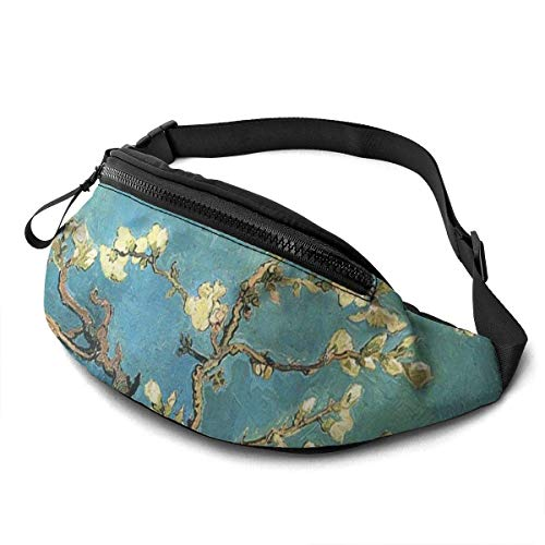 PULLA Marsupio Sportivo Marsupio Cintura Viaggio Cintura Nascosta Portasoldi Vincent Van Gogh Amandier en Fleurs