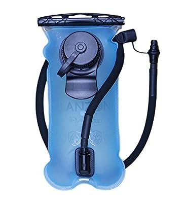 LANZON 2L / 2 Liters Hydration Water Bladder - Blue - Leakproof Reservoir, FDA Approved, Hiking Bladder