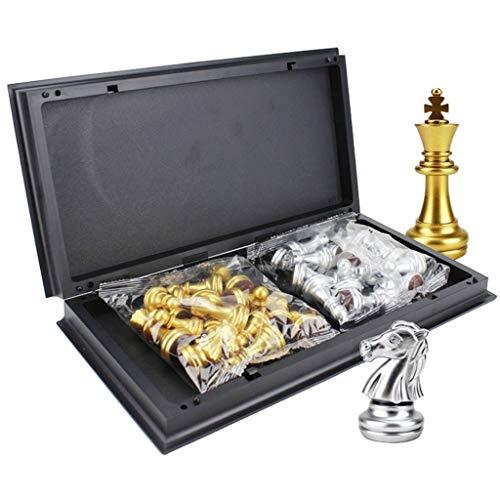32 / 36cm Big Size Middeleeuwse Schaaksets, Met Magnetische Schaakbord 32 Schaakstukken Table Board Games Figuur Sets Szachy (Color : 36 36CM)