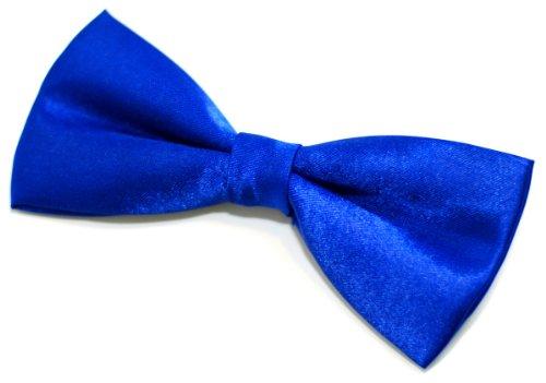 Nœud papillon pré-noué Largeur 11,5 cm Coloris au choix - Bleu - Taille Unique