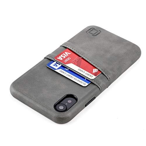 Dockem Exec M2 Funda Cartera para iPhone XR: Funda Tarjetero Slim con Placa de Metal Integrada para Soporte Magnético: Serie M [Gris]