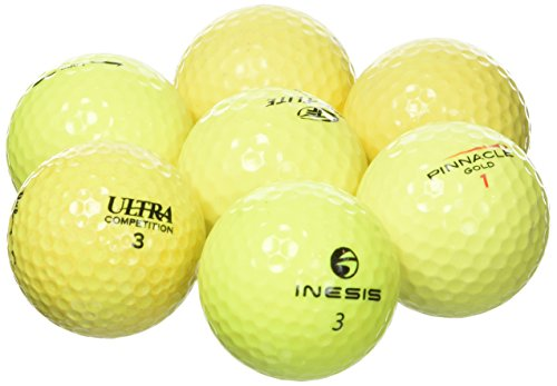LONGRIDGE Gebrauchte Golfbälle/Lakeballs, GradeB, 100Stück Gelb gelb