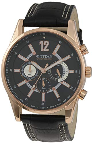 Cronógrafo Titan para hombre, reloj multifunción de pulsera contemporáneo para hombre ideal para el trabajo, analógico, de cuarzo, resistente al agua