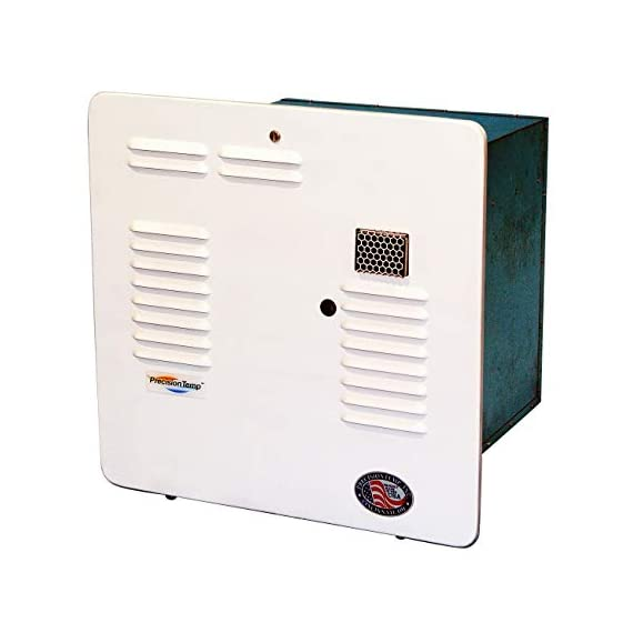 PrecisionTemp RV-550 Tankless Water Heater - Wall Vented 1 Designed specifically for RVs, trailers, tiny houses, cabins, mobile washing services, and more Takes up 1/2 the space and weighs 1/3 as much as a 10-gallon tank No pilot light and very high propane efficiency