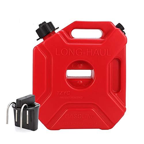 A&DW Neue tragbare rote Dosen Gas Kraftstofftank Ersatz Kunststoff Benzintanks Halterung Motorrad Benzinkanister Benzin Ölbehälter Benzinkanister,3L