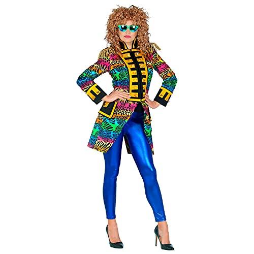 WIDMANN Widmann-51492 51492 mujer, uniforme de garde Leo, rayas arcoíris, director de circo, disfraz de carnaval, fiesta temática, multicolor, medium