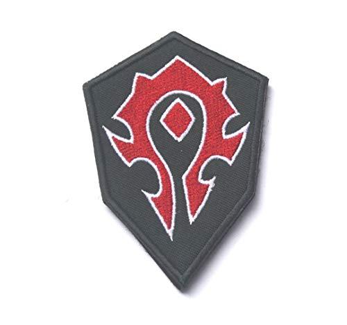 HEHEERHUO Parche Tribal de la Moral del Bordado Militar de la Alianza Mundial de Warcraft,3