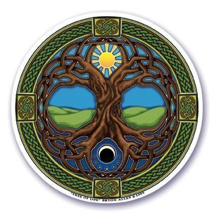 Mandala Arts Window Sticker 'Tree of Life' Decal