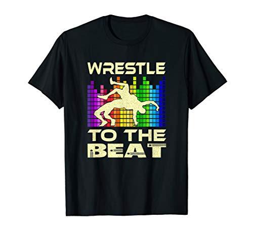 Wrestle to the Beat. Retro Wrestling Singlet for Wrestlers T-Shirt