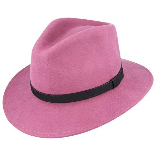 MAZ Crushable Fedora Hat - Handmade (Medium, Raspberry)