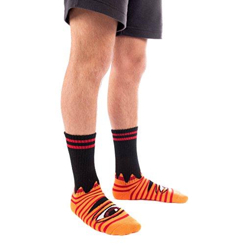 Toy Machine Socken Sect Eye Stripe Einheitsgröße orange/red