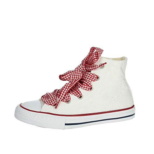 Converse Scarpe Sneakers Chuck Taylor All Star Hi Bambina White/Garnet 663995C