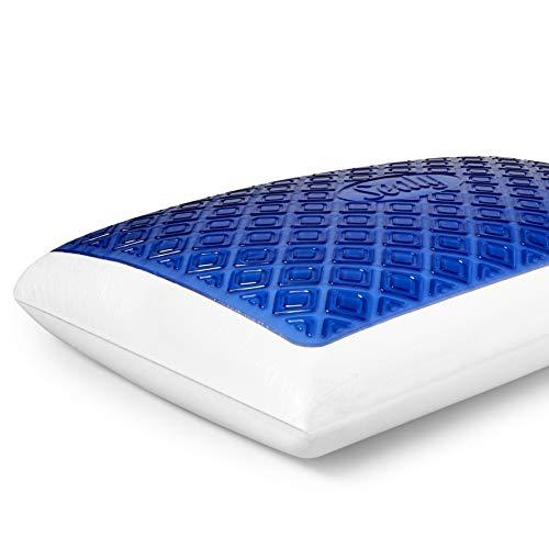Sealy SealyChill Gel Memory Foam Pillow, Standard, White