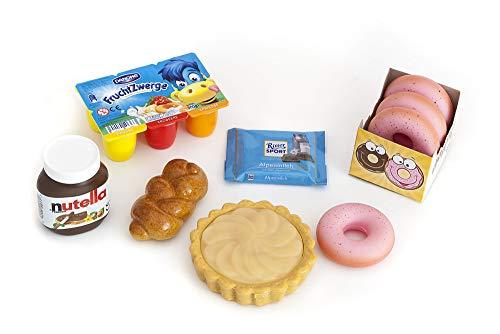 Polly Kaufladen Zubehör Set Fruchtzwerge, Schokolade Miniaturen,Donuts | Kinder Spielzeug für den Kaufmannsladen | Kinderkaufladen
