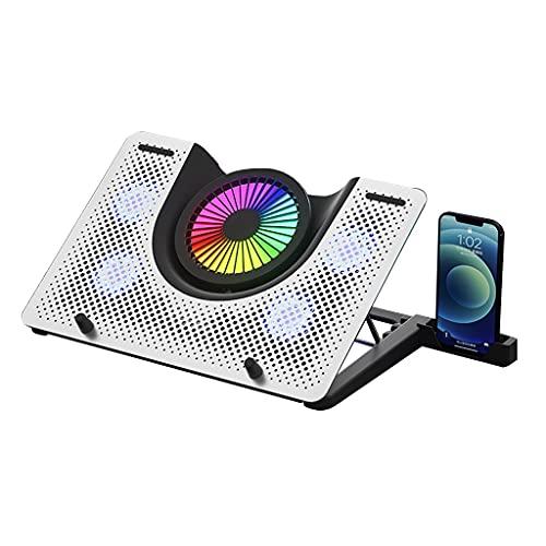 Cuaderno Cooler. Base de Ventilador de computadora de 17.3 Pulgadas. Almohadilla de enfriamiento portátil. Ventilador Externo para la computadora portátil. Refrigerador portátil RGB. Soporte