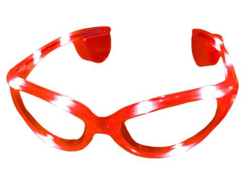 Alsino Blinkende LED blink Brille rot Blinky Eyewear Karneval
