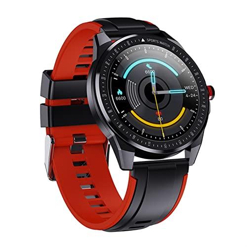 rongxin RECORDATORIO DE Llamada, Mensaje Mensaje Push Smart Watch RATEA DE CORAZÓN Presión Arterial Monitoreo De La Salud Pulsera Inteligente Modo Multi-Sport Mode Reloj Impermeable (Color : Red)